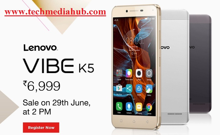 lenovo VIBE K5 registration