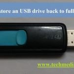 restore usb drive back to full capacity